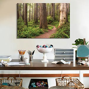 Inspirational Corner; Refreshing Workspace Canvas Art
