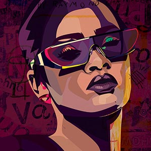 Rihanna Canvas Artwork