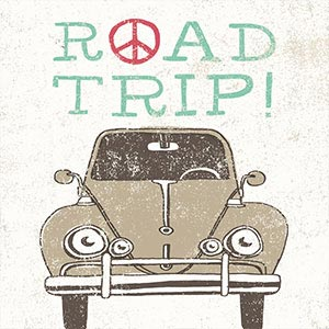 Road Trip Canvas Wall Art
