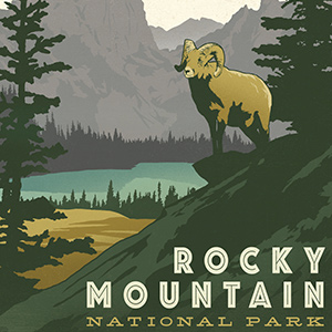 Rocky Mountain National Park Canvas Wall Art
