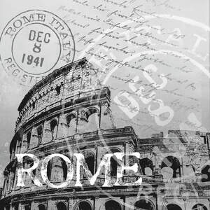 Rome Travel Posters Canvas Art