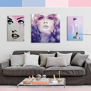 Rose Quartz & Serenity Canvas Artwork