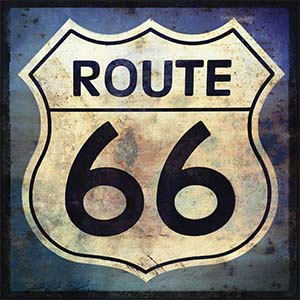 Route 66 Canvas Wall Art