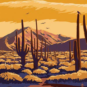 Saguaro Canvas Wall Art