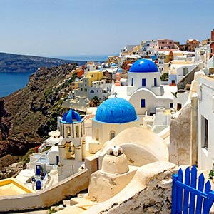 Santorini Canvas Art Prints