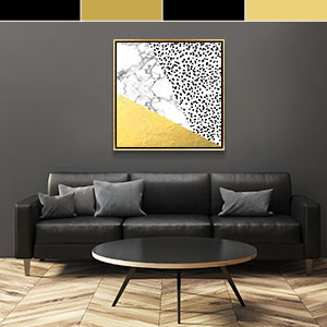 Black & Gold Canvas Art