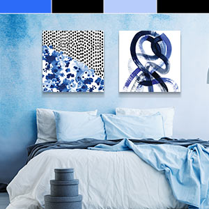 Black & Blue Canvas Artwork