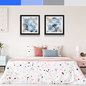 Blue and Gray Canvas Art Prints