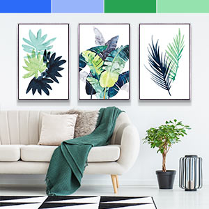 Blue & Green Canvas Prints