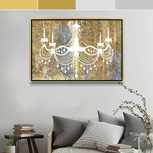 Gold and Silver Canvas Art Prints