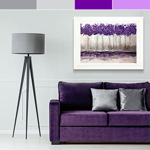 Gray & Purple Canvas Prints
