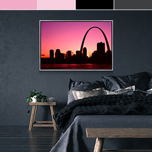 Black and Pink Canvas Art