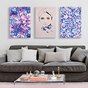 Rose Quartz & Serenity -2016 Canvas Artwork
