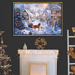 Scenes of the Season Canvas Art Prints