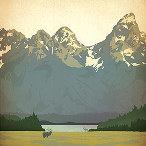 Mountain Ranges Canvas Artwork