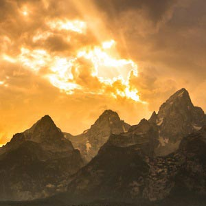 Mountain Sunsets Canvas Wall Art