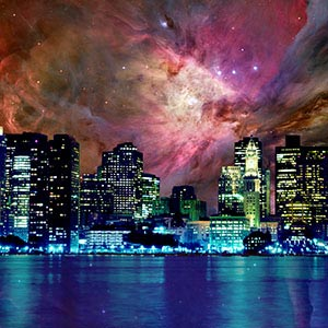 Night Sky Canvas Wall Art