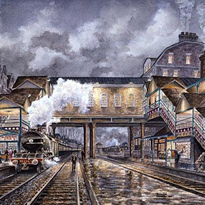 Railroads Canvas Artwork
