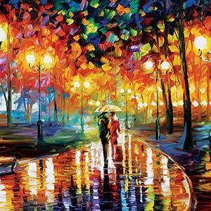 Rain Canvas Wall Art