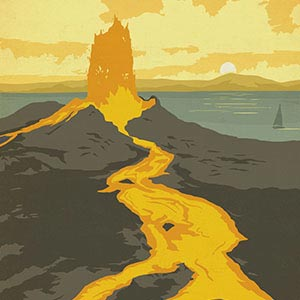 Volcanoes Canvas Art