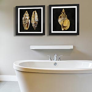 Fun Bathroom; Sea Treasures Canvas Art