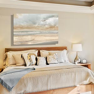 Minimalist Bedroom Serene Natural Canvas Art
