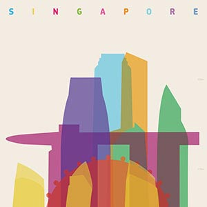 Singapore Canvas Art Prints