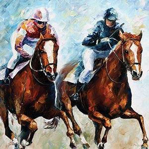 Horse Racing Canvas Art
