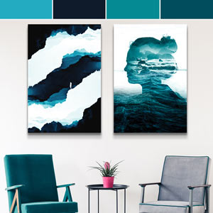 Aquarius Colors Canvas Art