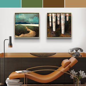 Virgo Colors Canvas Art
