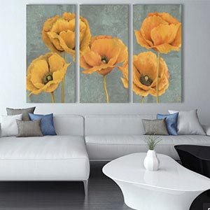 3-Piece Floral & Botanical Canvas Artwork