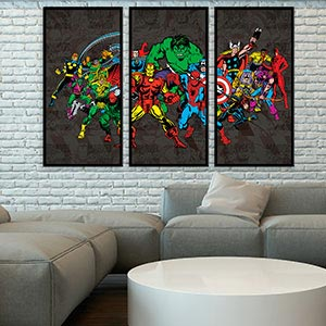 3 Piece Pop Art Canvas Wall