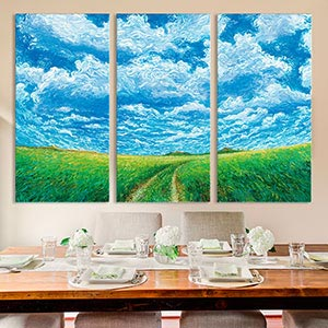 3-Piece Scenic Canvas Prints