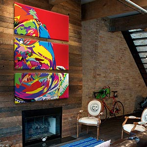 3-Piece Street Art Canvas Art