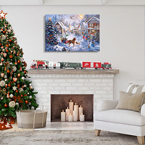 Traditional Tidings Canvas Wall Art