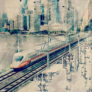 By Train Canvas Prints