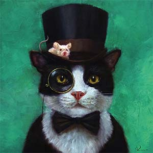 Tuxedo Cats Canvas Art Prints