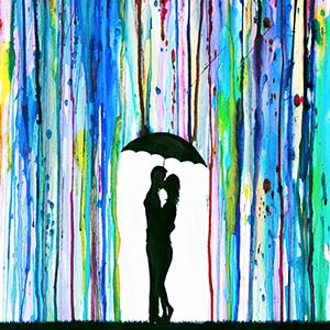 Umbrellas  Canvas Wall Art