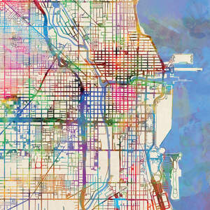 Urban Maps Canvas Artwork