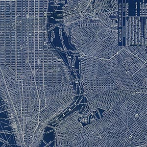 Urban Maps Art Prints