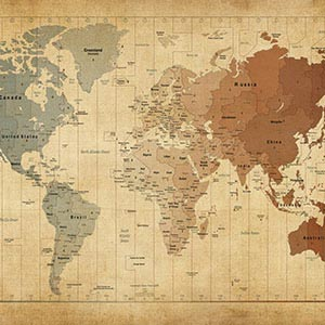 Vintage Maps Canvas Art Prints