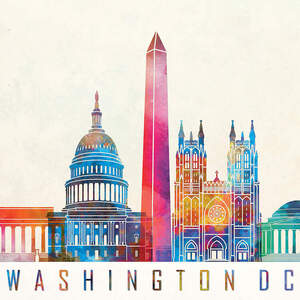 Washington DC Skylines Canvas Wall Art
