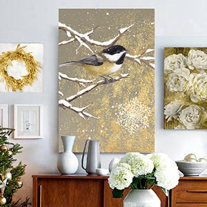 White & Gold Canvas Art Prints