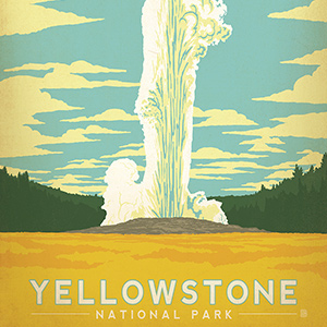 Yellowstone National Park Canvas Art Prints