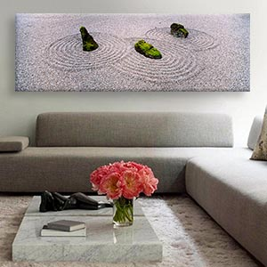 Zen Living Room Canvas Prints